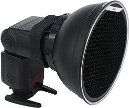 Haoge Flash Reflector Speedlite Beauty Dish Light Diffuser Honeycomb Grid for Nikon SB-600, SB-800, SB-900, SB-910,Canon 430EXII, 550EX,580EX II, 600EX-RT, Sony HVL-F60M, HVL-F45RM, HVL-F43M