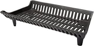 HY-C Liberty Foundry G27-4-BX Heavy-Duty Cast Iron Curved Basket Style Fireplace Grate, 27