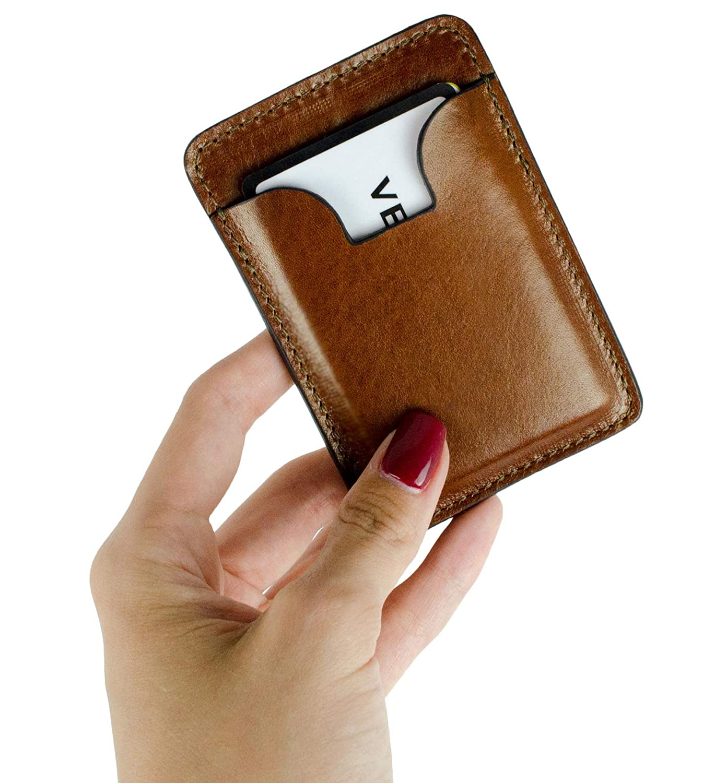アンバーレザークレジットカードケース ビジネスカードケース - 1984