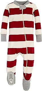 Burt's Bees Baby Baby Boy's Unisex Pajamas, Zip-Front Non-Slip Footed Sleeper Pjs, Organic Cotton