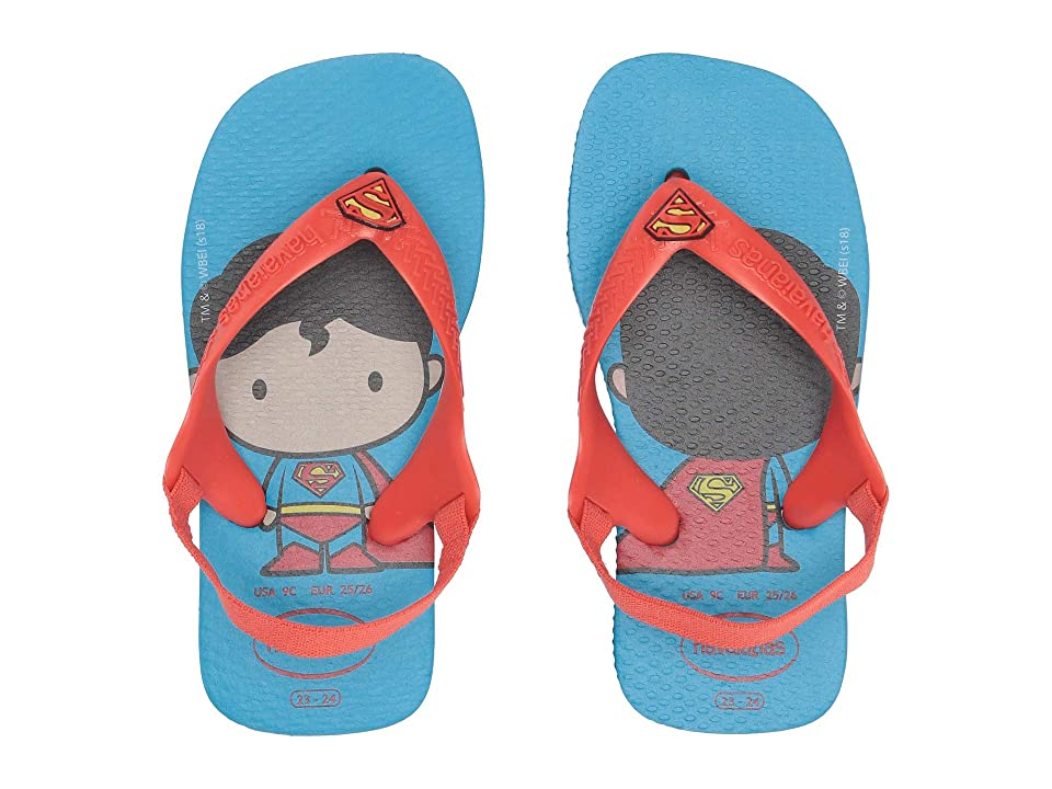 Havaianas Kids Baby Heroes Flip-Flop (Toddler) (Turquoise/Strawberry) Boys Shoes
