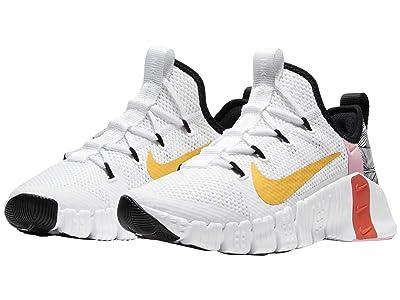 Nike Free Metcon 3 (White/Laser Orange/Team Orange/Black) Women