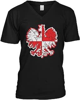 Amdesco Men's Polish Eagle, Polska Pride V-Neck T-Shirt