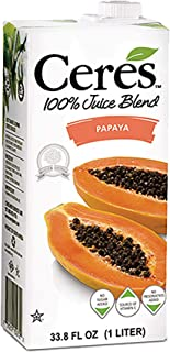 Ceres 100% All Natural Pure Fruit Juice Blend, Papaya - Gluten Free, Rich in Vitamin C, No Added Sugar or P...
