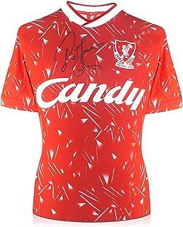John Barnes Signed Liverpool Soccer Jersey. 1989-91 Candy   Autographed Memorabilia