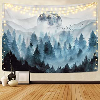 Bjyhiyh Misty Forest Tapestry
