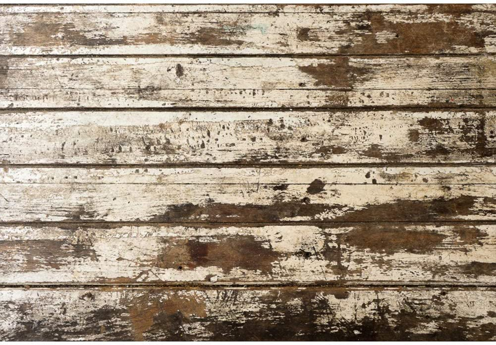 Vintage Wooden Texture Wall Background 3x5ft Baby Shower Vinyl Photography Backdrop Old Shabby Grunge Crackled Wood Board Plank Floor Mottled Brown Blue Kids Baby Photo Prop Decor Banner
