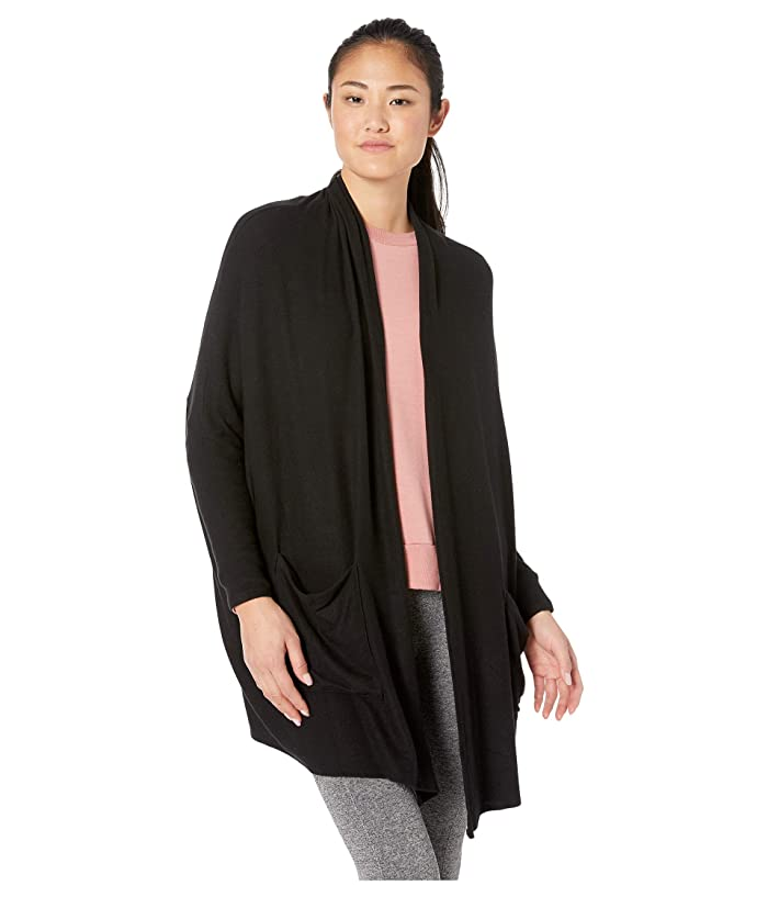 Beyond Yoga Brushed Up Origami Cardigan (Black) Women's Sweater