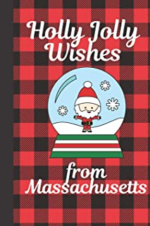 Holly Jolly Wishes From Massachusetts: Season Greetings From Massachusetts Holiday Greetings Let It Snow Merry Christmas S...