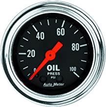 AUTO METER 2421 Traditional Chrome Mechanical Oil Pressure Gauge