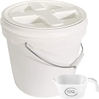 2 Gallon Food Grade BPA Free Letica Bucket with Gamma Seal Lid - Lid Has Been Installed to The Bucket - Bundle and A One C...