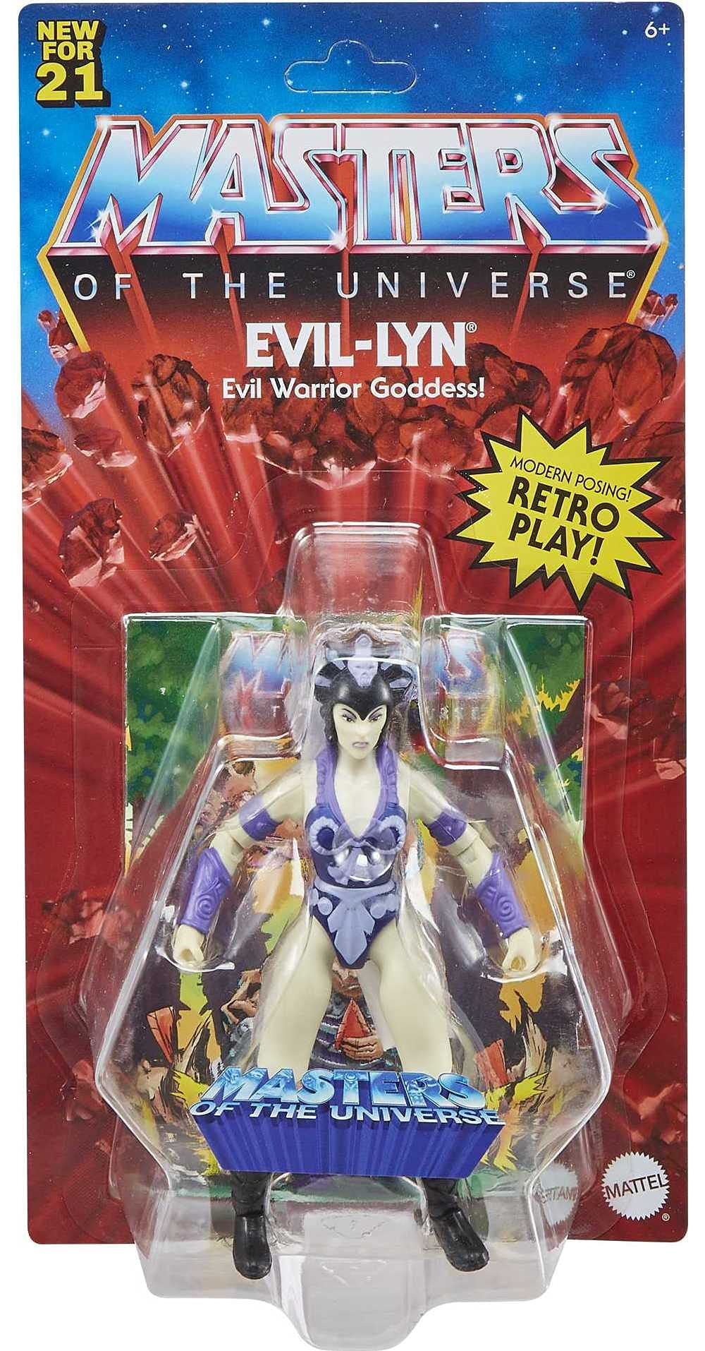 Masters of the Universe Origins Evil-Lyn 5.5-in Action Figure, Battle Figure for Storytelling Play and Display, Gift for 6 to 10-Year-Olds and Adult Collectors