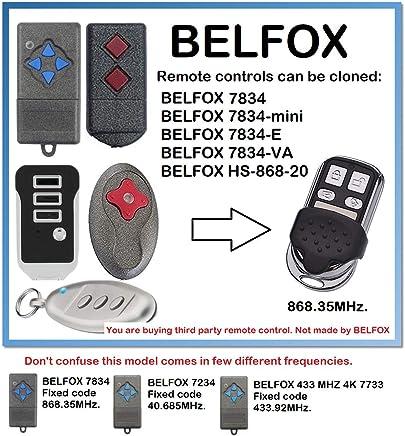 klone /émetteur de rechange 868.3/Mhz Fixed CODE /E compatible /émetteur manuel belfox 7834/