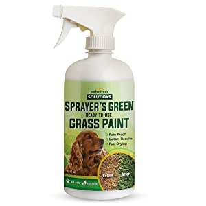 PetraTools Green Grass Paint for Lawn, Ready-to-Use Green Grass Lawn Spray & Dog Spot Repair, Lawn Paint, Spray on Grass, Green Lawn Spray, Green Grass Spray Paint for Lawn Yellow & Urine (32Oz)