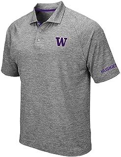 Mens Washington Huskies Raglan Polo Shirt