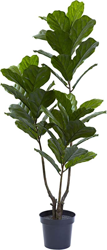Nearly Natural 5449 65in Fiddle Leaf Tree UV Resistant Indoor Outdoor