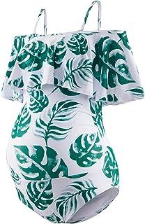 GINKANA Maternity Swimsuits Maternity Swimwear Womens...