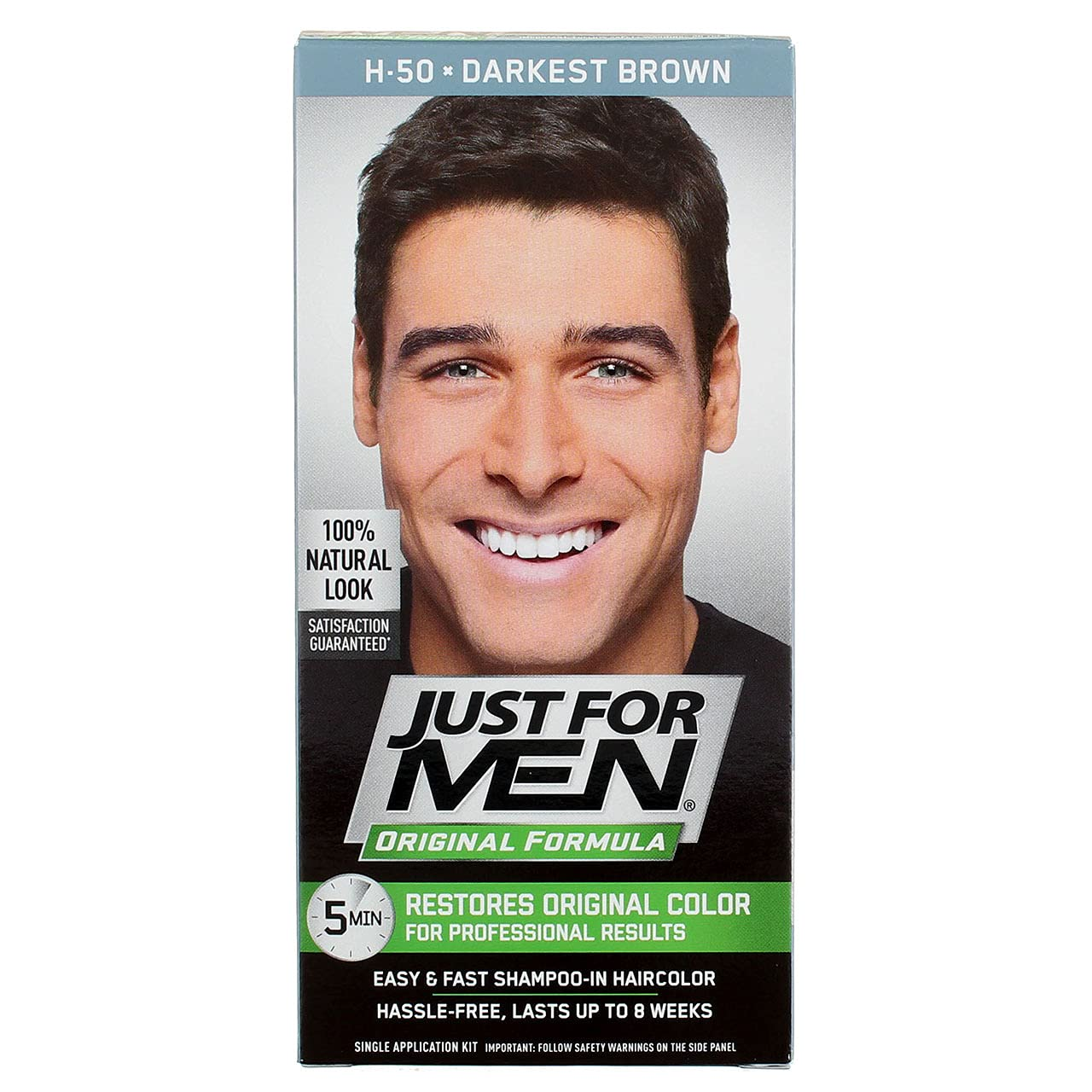 Just Max 50% OFF For Men Store Shampoo In #H-50 Brown Darkest Haircolor Pack 6