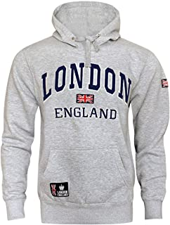 16sixty Womens London England Union Jack Pullover Hoodie Fleece Sweatshirt 1660