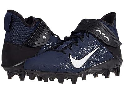 Nike Alpha Menace Pro 2 Mid (College Navy/White/Black/Black) Men