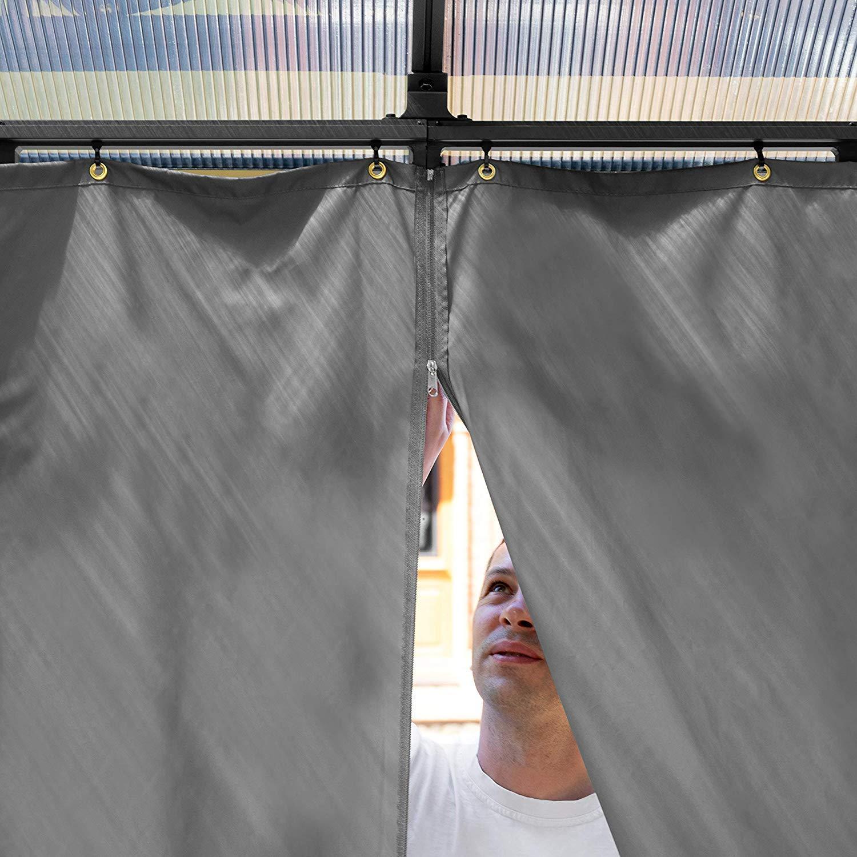 TOOLPORT Cenador de jardín 3x3m Impermeable ALU Deluxe Techo de ...