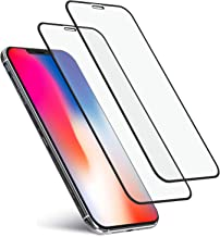 """iPhone X / Xs Tempered Glass Screen Protector 2 Pack, Smartilike Full Coverage 6D Round Edge To Edge 9H Hard Ultra Clear Film Anti Scratch No Bubble Shatter Proof Compatible with Apple iPhone X 5.8"""""""