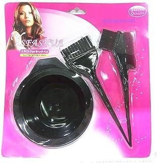 Salon Verfborstel met kam voor haarkleurmiddelen en kwast voor haarkleurmiddelen