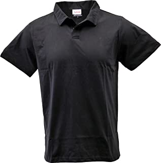 SPECIEN Young Adult (Junior/Teen) Short Sleeve Improved Collar Jersey Polo Shirt with Moisture Management (Athletic/Slim Fit)
