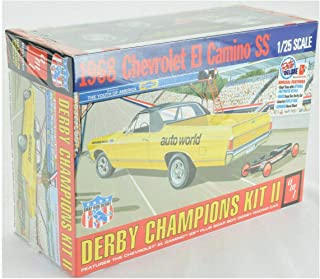 1968 El Camino with Soap Box Derby Car 1/25 Scale Hobby Model Car Toy Kit 1018 Quick Arrive