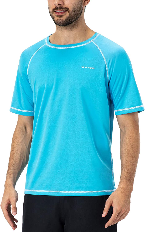 NAVISKIN Men's Long Sleeve Rash Guard Swim Shirt UPF 50+ Quick Dry Fishing Hiking Shirts