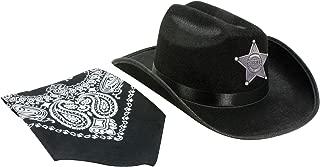 Aeromax Jr. Sheriff Hat Black with Bandanna
