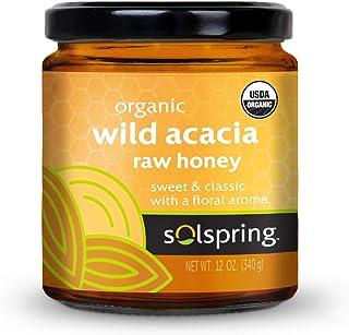 Dr. Mercola Solspring Organic Wild Acacia Raw Honey, 1 Jar (12 Oz.), non GMO, Gluten Free, Soy Free, USDA Organic