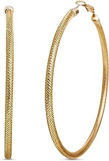 Steve Madden 70mm Extra Large Textured Hoop Earrings for Women