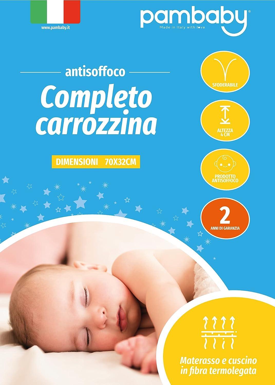 Completo Antisoffoco Materassino E Cuscino Per Carrozzina Amazon It Prima Infanzia