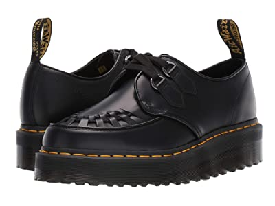 Dr. Martens Sidney Quad Creepers (Black Polished Smooth) Shoes