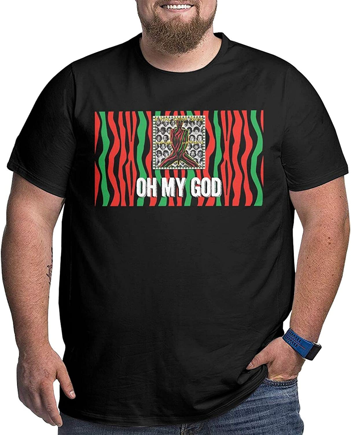 Tribe Called Quest Big Size Men's t-Shirt Round Neck Short Sleeve T-Shirt