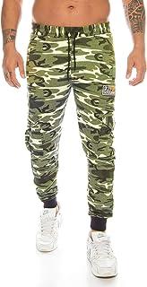 Crazy Age Cargo męskie spodnie sportowe, kamuflaż, kamuflaż, spodnie do biegania, piłki nożnej, spodnie na co dzień