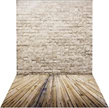 HUAYI 5x7ft Brown Brick Wall Backdrop for Photography Background Wooden Floor Product Portrait Photo Studio Props D-9775