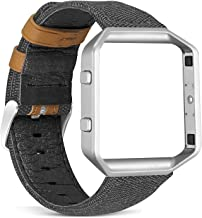 Teak Fitbit Blaze Band Silicone and Magnetic Loop Replacement Wristbands