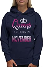 Young Motto Women's QUEENS ARE BORN IN NOVEMBER Hoodie