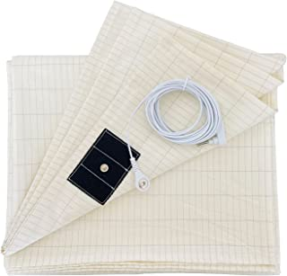 Grounding Sheet 5% Silver Fiber with Grounding Cord for Better Sleep Native Health (27x52 Inch)