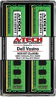 A-Tech 8GB RAM Kit for Dell Vostro 460, 430, 260, 260s | (2 x 4GB) DDR3 1333MHz PC3-10600 240-Pin Non-ECC DIMM Memory Upgrade