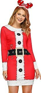Best christmas printed dresses Reviews