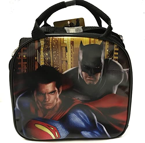 (schwarz) - DC Comics Batman VS Superman Sign Lunch Bag with Water Bottle & Adjustable Shoulder Strap (schwarz)