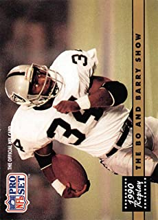 1991 Pro Set Football Card #335b With NFLPA Bo Jackson/Barry Sanders/COR Los Angeles Raiders/Detroit Lions Official NFL Trading Card