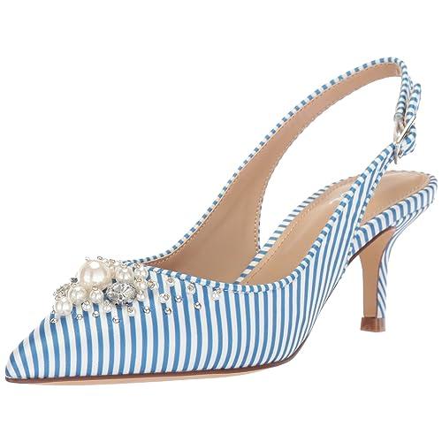 e205a8d87def2 The Fix Women's Felicia Slingback Kitten Heel Pump with Faux Pearls