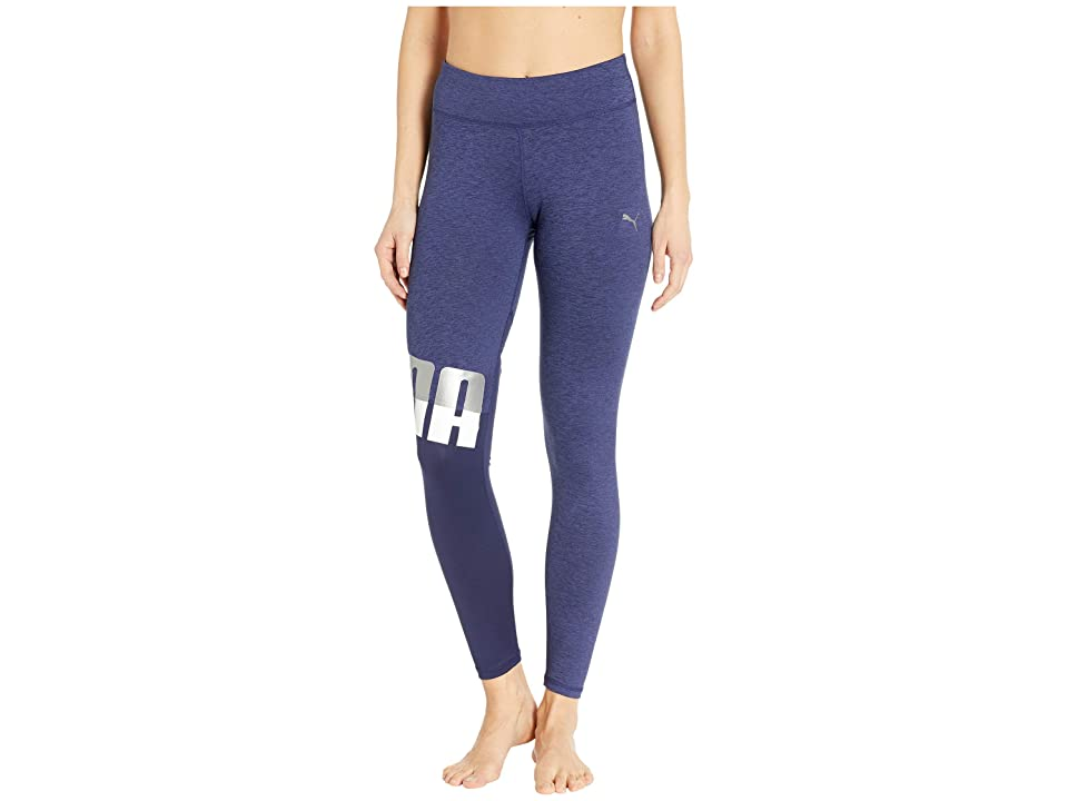 PUMA All Me 7/8 Tights (Peacoat Heather) Women