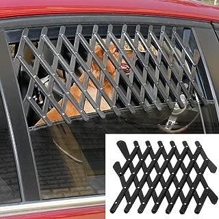 5starsuperdeals Dog Window Guard Gate Vent - Expandable Car Window Ventilation Safe Guard Pet Grill