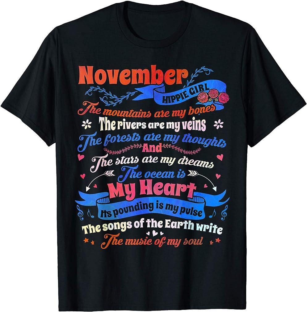 Birthday November Hippie Girl The Mountains Are My Bones