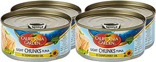 California Garden Light Tuna Chunk In Sunflower Oil, 4 x 170 gm